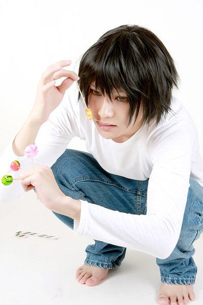 Karael as L from Deathnote
